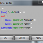 Creating a filter of all animation film for kids in French last year