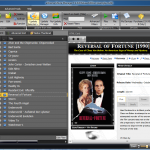 The main interface of eXtreme movie manager