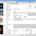 Modfiying movie meta data in movie collection manager Ant Movie Catalog